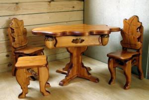 Фото - мебель из массива дерева