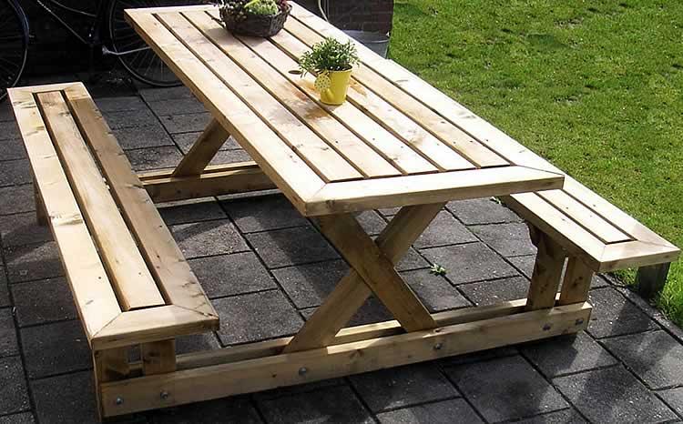 Деревянные столы и стулья для дачи из сосны своими руками фото 62