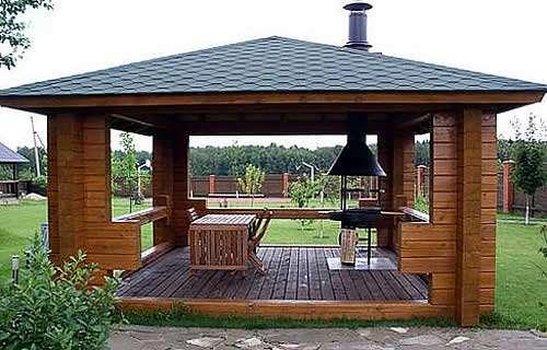 Барбекю в беседке и летняя кухня электрические камины красноярск