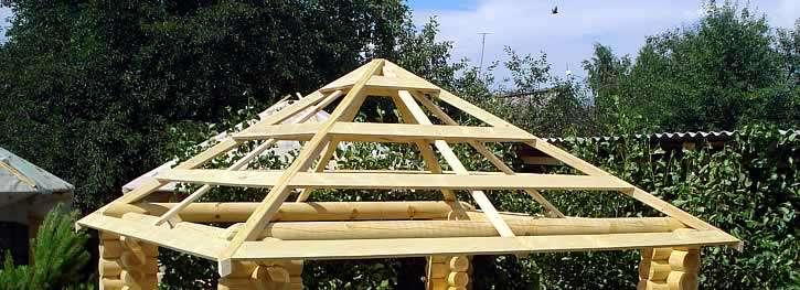 Четырёхскатная крыша для беседки