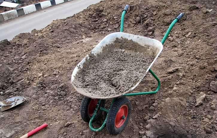 Готовая смесь бетона