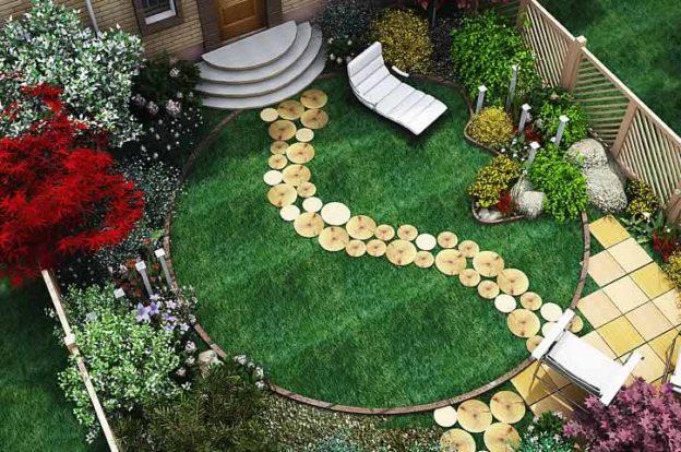 Ландшафтный дизайн с розами и клематисом
