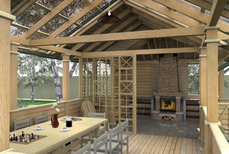 Кухонный комплекс с террасой