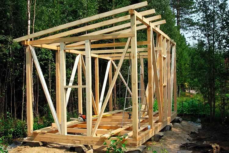 Каркас деревянного сооружения