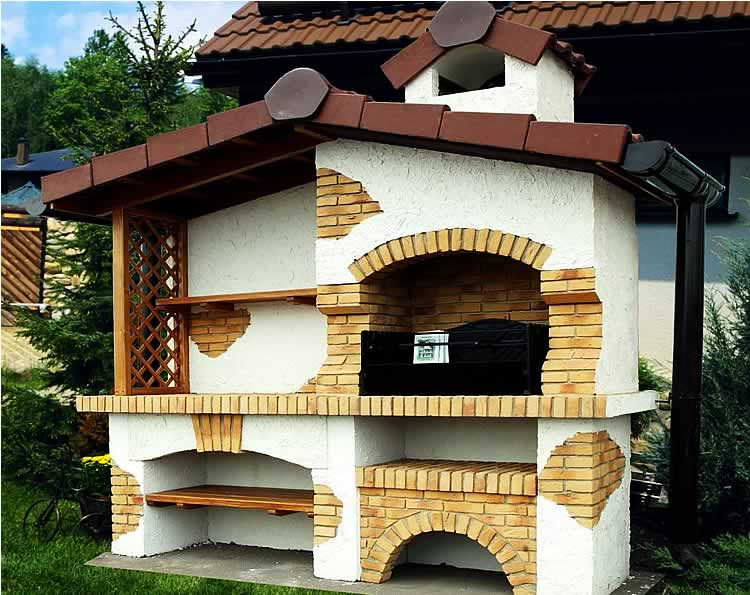 Дизайн барбекю в виде замка