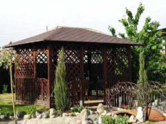 Строительство беседки во дворе дома своими руками