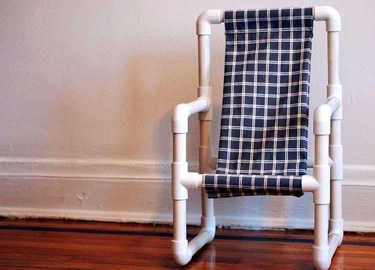 Кресло из водопроводных труб