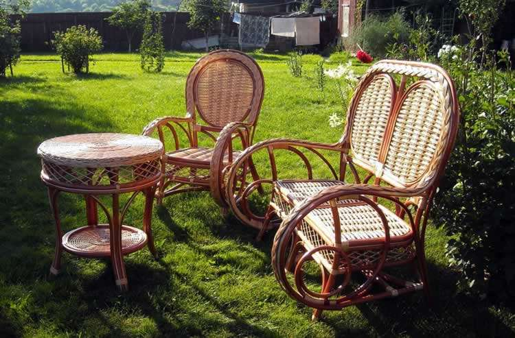 Мебель для дачи из ротанга