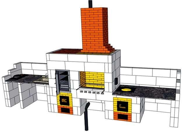 Проект барбекю с разными приспособлениями