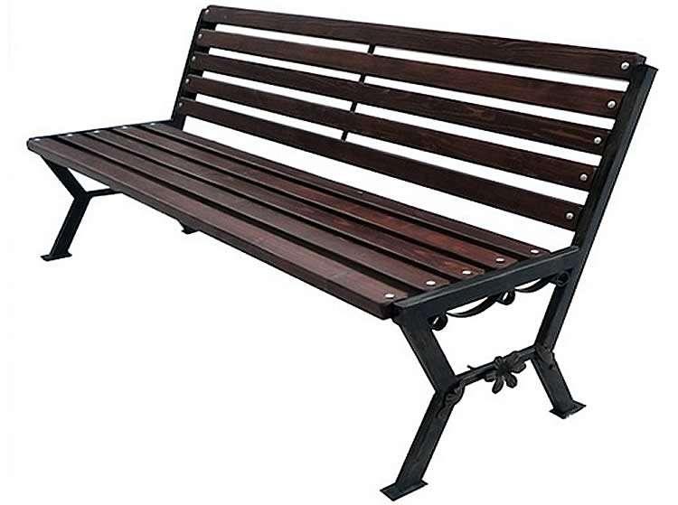 Скамейка из металлической трубы