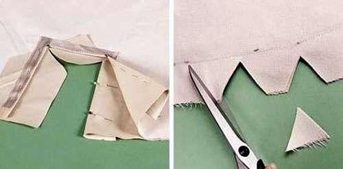 Выгибаем и подшиваем материал