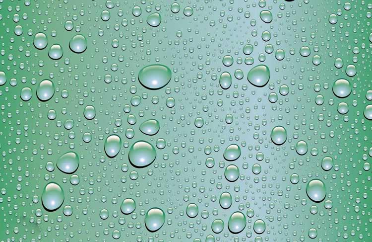 Ткань отталкивает воду