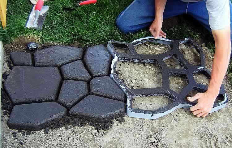 Как сделать садовые дорожки своими руками из форм
