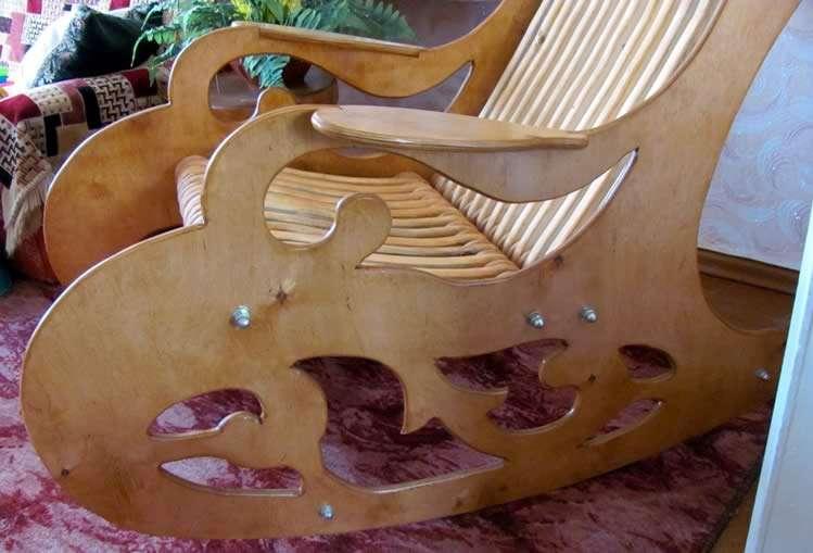 Сборка кресла качалки
