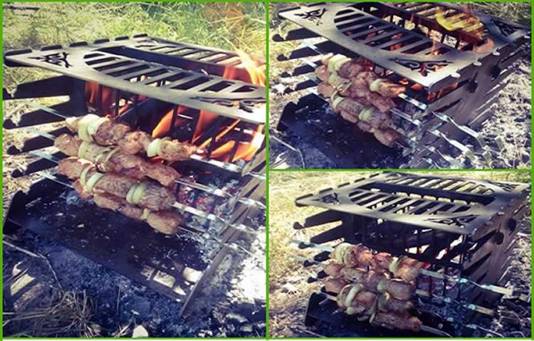 Приготовление мяса на природе
