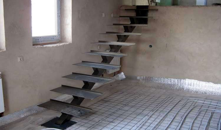 Металлические лестницы для дачи своими руками