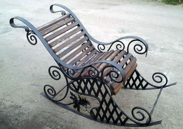 размеры кресло качалки из металла