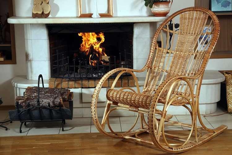 Плетёное кресло качалка своими руками 99