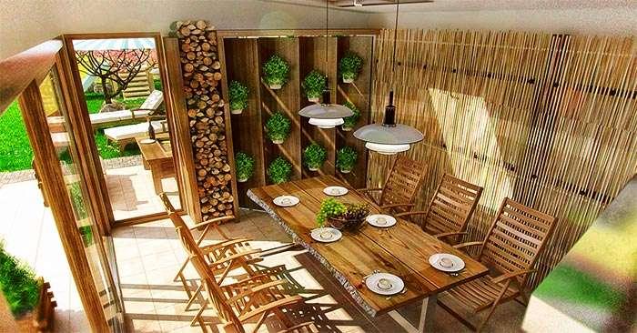 Летний вариант дачной кухни