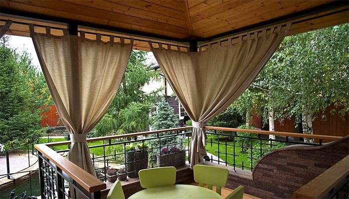 Текстильные уличные шторы