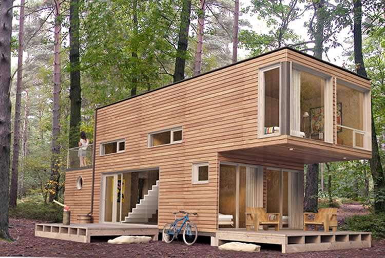 Двухэтажная постройка