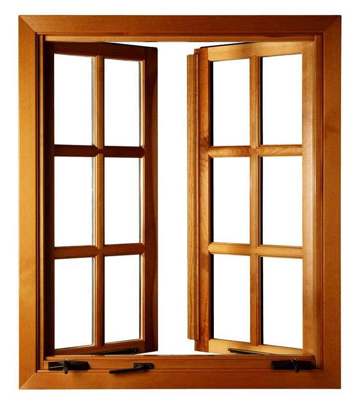 Двустворчатое деревянное окно