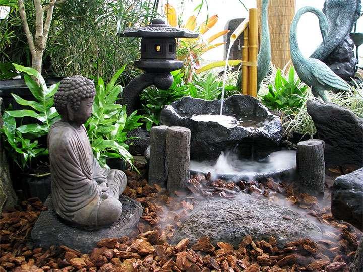 Декоративная композиция в саду камней