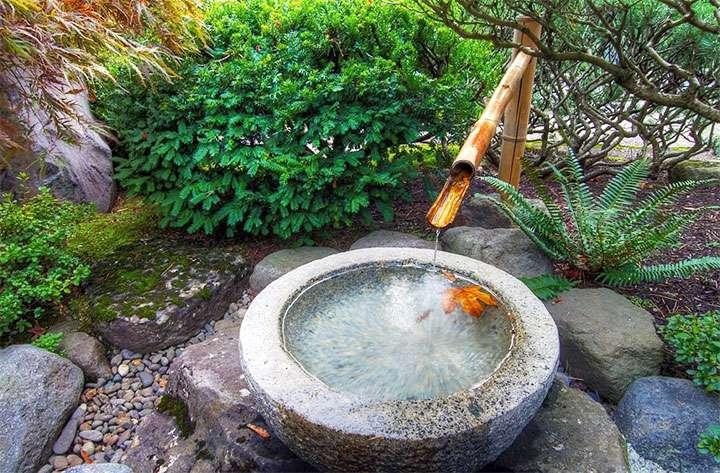 Каменная чаша – тсукубаи