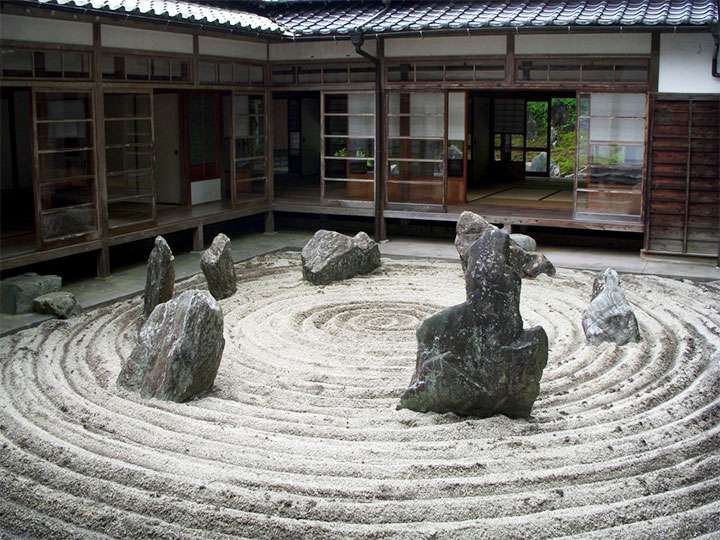 Каменный сад в дизайне дома