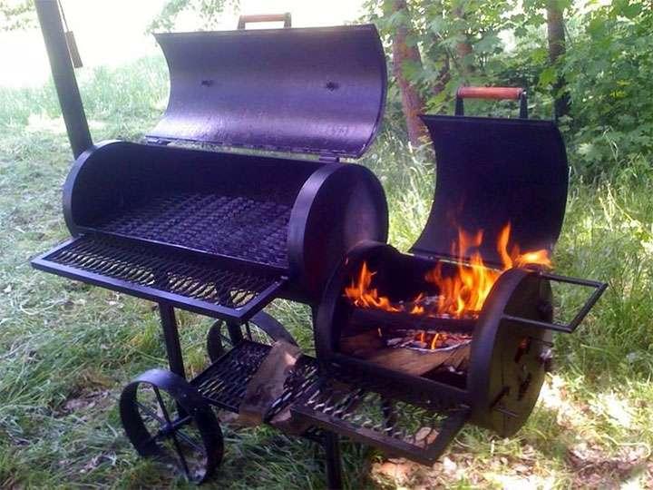 Лучшие переносные барбекю-коптильни садовые печи с мангалом и барбекю беседки