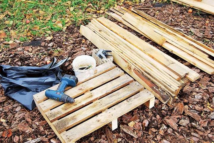 Материалы для постройки дровницы своими руками