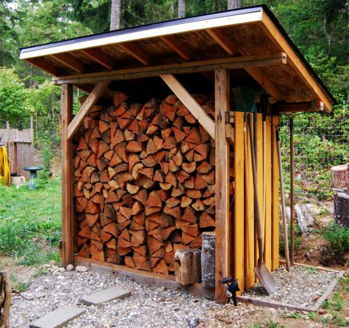 Поленница дров своими руками 781