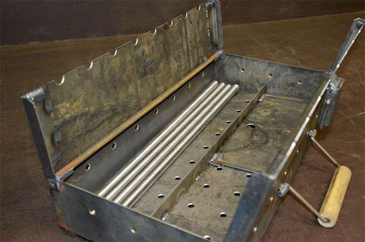 Самодельный мангал-чемодан