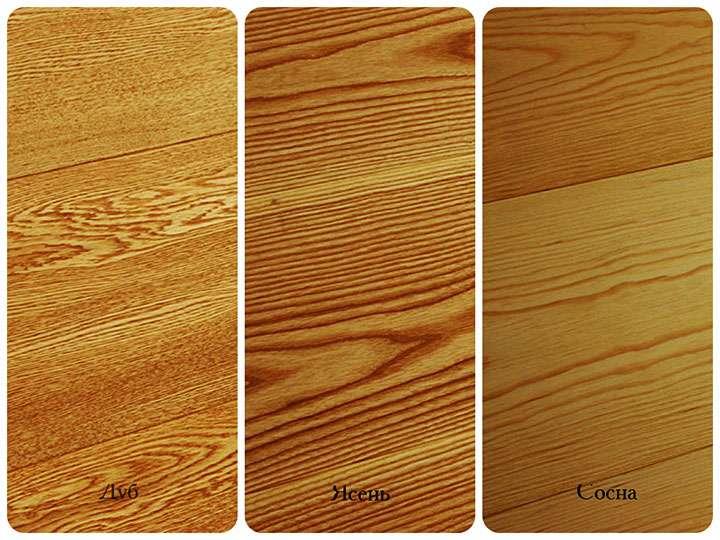 Текстуры разных пород дерева
