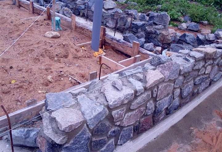 Обустройство каменного основания