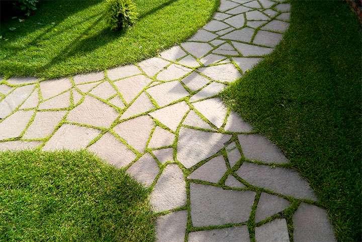 Садовая тропинка из плитняка