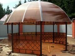 Беседка своими руками из металла и поликарбоната – уютный уголок на даче