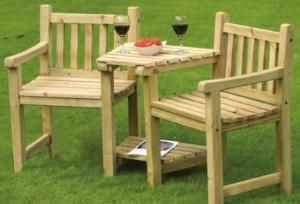 Мебель из деревянных реек