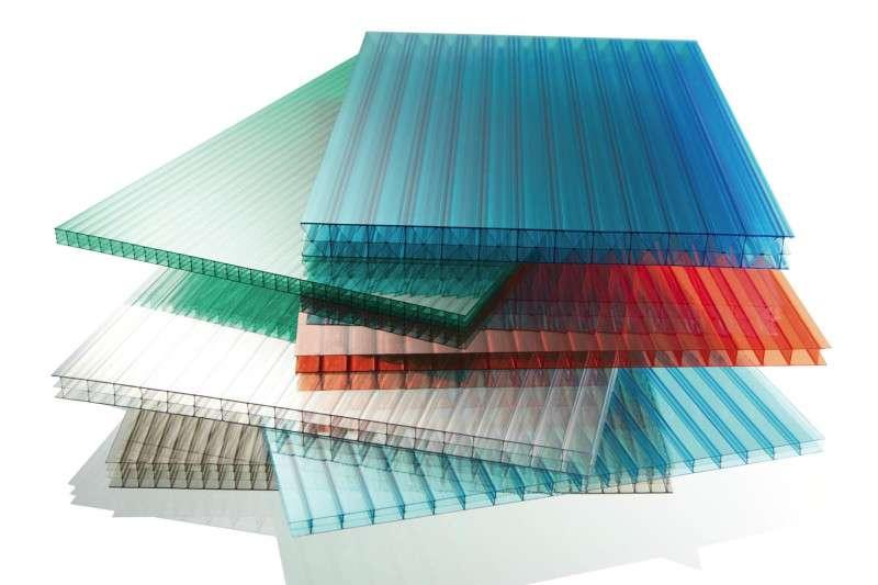 Разноцветный сотовый поликарбонат