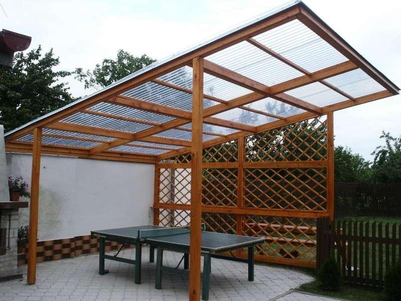 Крыша из материала поликарбонат