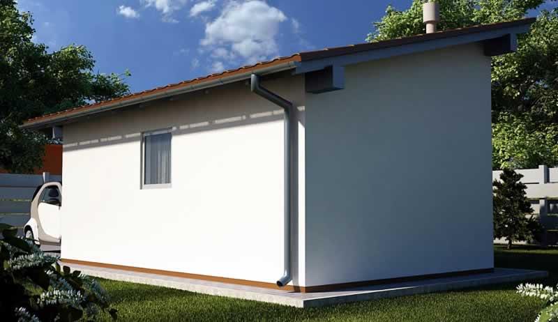 Фото - односкатная крыша для гаража