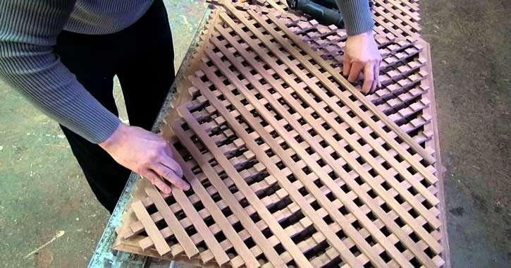 Сборка деревянной решетки