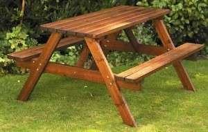 Комбинированный вариант стола с двумя скамейками