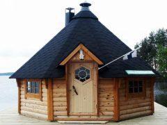 Строительство гриль домика на дачном участке сближает с природой