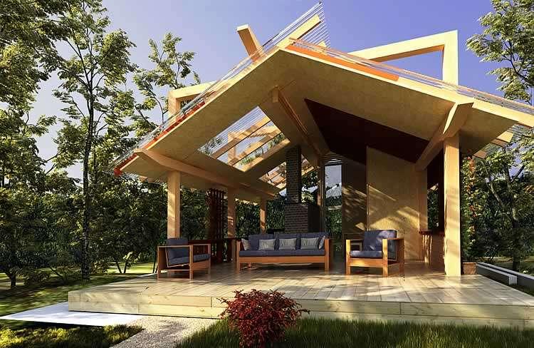 Двускатная крыша с разными скатами: описание и конструкция