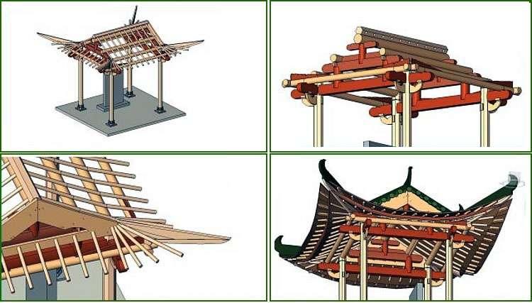 Конструкция китайской кровли