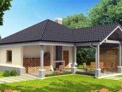 Мини-комплекс – баня с беседкой под одной крышей
