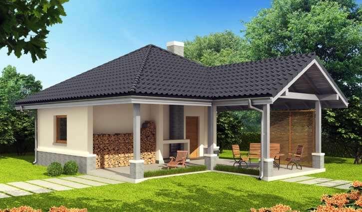 Проект бани с беседкой под одной крышей: пристроенные варианты с барбекю и мангалом под общей крышей, пристройка в виде навеса