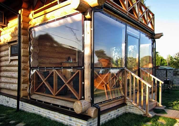 Терраса остеклена окнами из пвх
