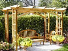 Пергола из дерева – пошаговая инструкия + схема сборки